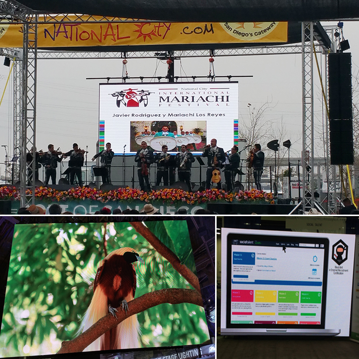 outdoor led video wall rental